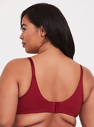 Dark Red Microfiber 360° Back Smoothing™ Lightly Lined T-Shirt Bra, BIKING RED, alternate