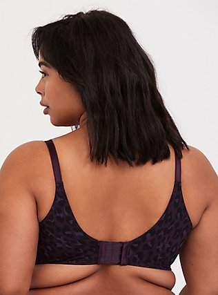 Purple Leopard 360° Back Smoothing™ Lightly Lined Cotton T-Shirt Bra, LEOPARD, alternate