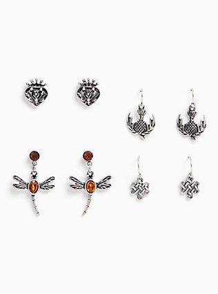 Plus Size Outlander Earring Set - Set of 4, , hi-res