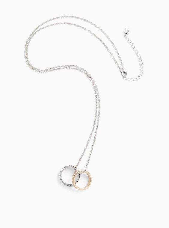 Plus Size Outlander Claire Silver-Tone Wedding Rings Necklace, , hi-res