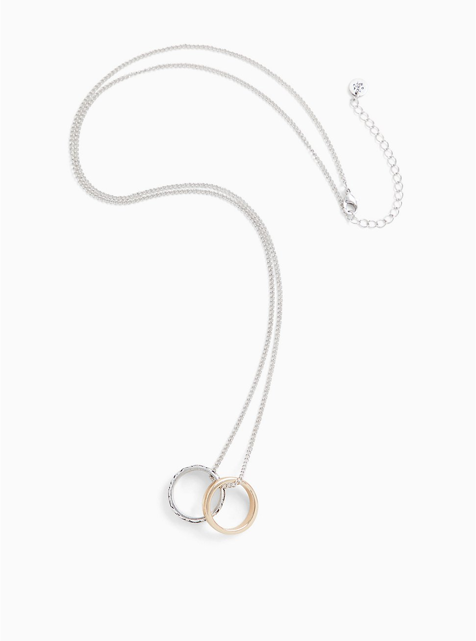 Outlander Claire Silver-Tone Wedding Rings Necklace, , hi-res