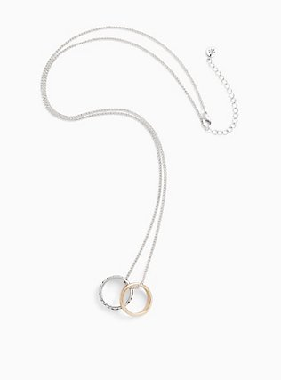 Plus Size Outlander Claire Silver-Tone Wedding Rings Necklace, , hi-res