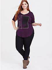 Her Universe Frozen 2 Elsa Graphic Grape Purple Top, POTENT PURPLE, alternate