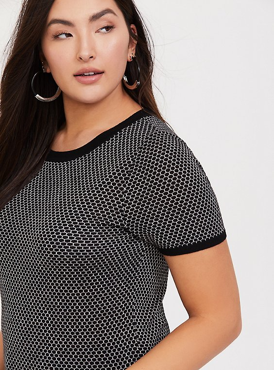 Black & White Geo Sweater Pullover, , hi-res