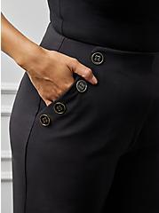 Plus Size High Waisted Sailor Pant - Black, DEEP BLACK, alternate