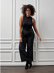 Plus Size High Waisted Sailor Pant - Black, DEEP BLACK, hi-res