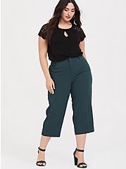 Crepe Culotte Pant - Dark Green, GREEN GABLES, hi-res