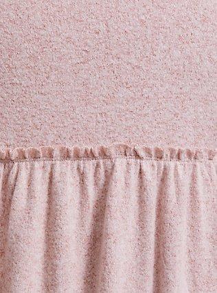 Super Soft Plush Light Pink Babydoll Hoodie, PALE BLUSH, alternate