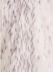 Cream Faux Fur Crop Jacket, , alternate