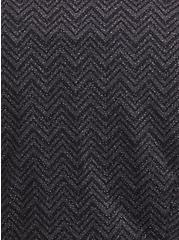 Studio Uptown Premium Ponte Black Chevron Stretch Peplum Blazer, , alternate