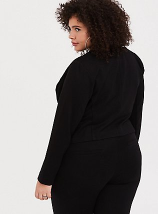 Black Ponte Sky High Crop Blazer, DEEP BLACK, alternate