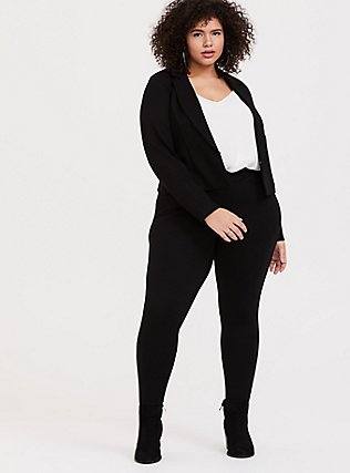 Black Ponte Sky High Crop Blazer, DEEP BLACK, hi-res