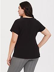 Black Chablis Button Blouse, DEEP BLACK, alternate