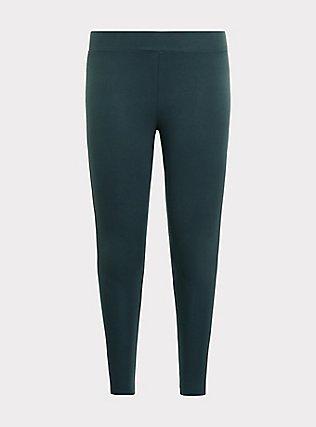 Premium Legging - Dark Green, GREEN GABLES, flat