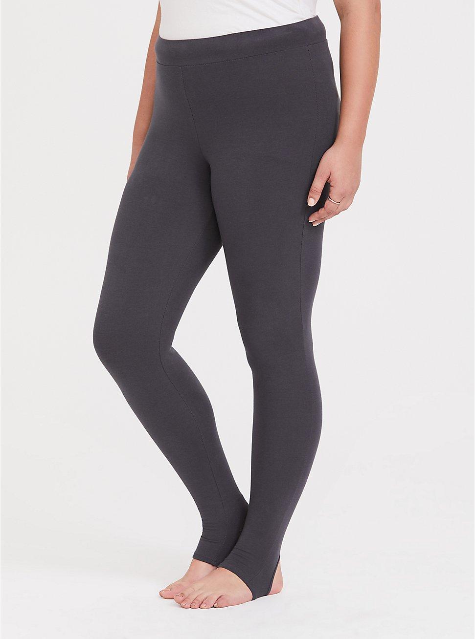Premium Legging - Stirrup Hem Grey, GREY, hi-res