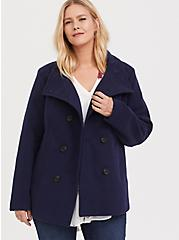 Navy Double-Breasted Peacoat, PEACOAT, alternate
