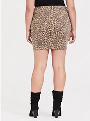 Leopard Denim Mini Skirt, LEOPARD, alternate