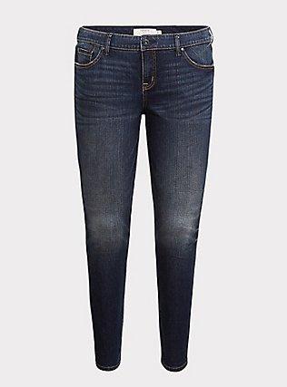 Classic Skinny Jean - Vintage Stretch Dark Wash, EQUINOX, flat