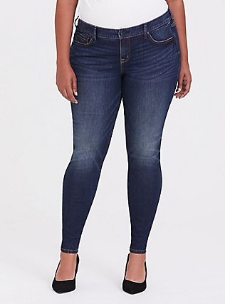 Classic Skinny Jean - Vintage Stretch Dark Wash, EQUINOX, hi-res