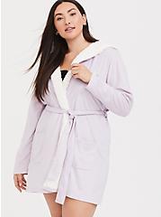 Light Lavender Purple Unicorn Sleep Robe, PURPLE, alternate