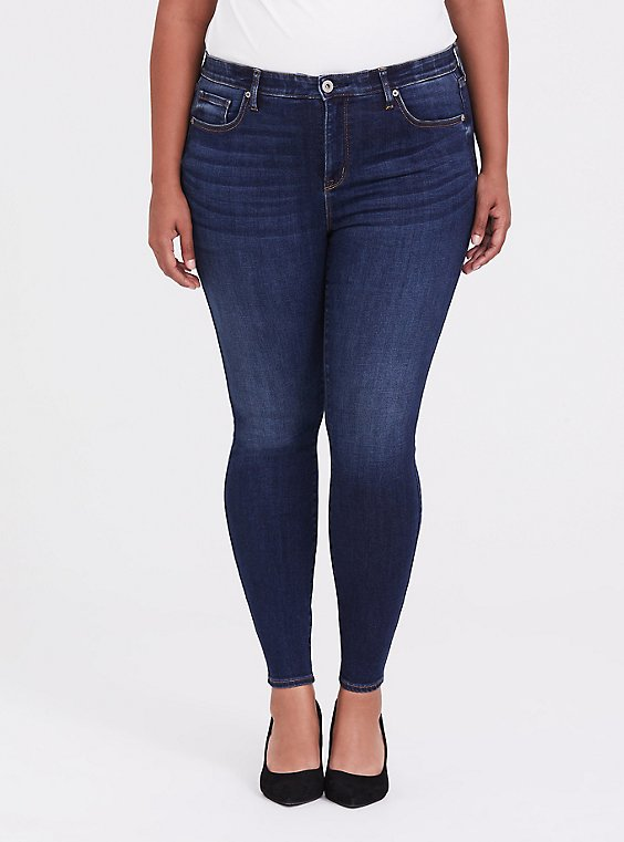 Sky High Skinny Jean - Comfort Stretch Dark Wash, , hi-res