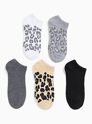 Leopard Sock Pack - Pack of 5, ANIMAL, hi-res