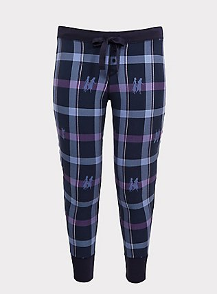 Disney Frozen 2 Anna & Elsa Blue Plaid Legging, MULTI, flat
