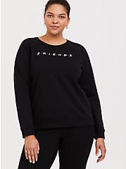 Friends Black Sweatshirt, DEEP BLACK, alternate