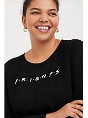 Plus Size Friends Black Sweatshirt, DEEP BLACK, hi-res