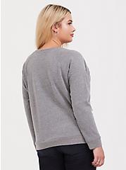 Gilmore Girls Luke's Diner Grey Sweatshirt, MEDIUM HEATHER GREY, alternate