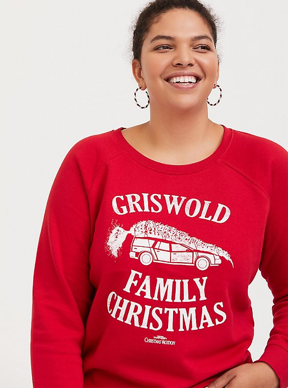 Plus Size Griswold Family Christmas Red Sweatshirt, , hi-res
