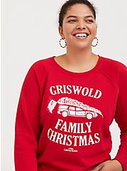 National Lampoon's Griswold Family Christmas Red Holiday Sweatshirt, JESTER RED, hi-res