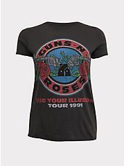 Guns N' Roses Use Your Illusion Grey Crew Neck Tee, DEEP BLACK, hi-res