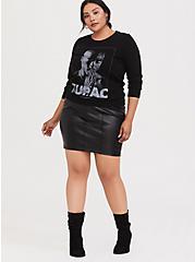 Plus Size Tupac Pullover Sweatshirt, DEEP BLACK, alternate