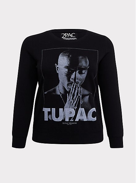 Tupac Pullover Sweatshirt, DEEP BLACK, hi-res