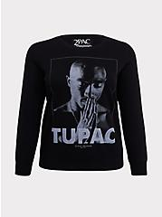 Plus Size Tupac Pullover Sweatshirt, DEEP BLACK, hi-res