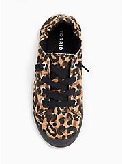 Plus Size Black & Leopard Canvas Ruched Sneaker (WW), ANIMAL, alternate