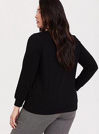 Rolling Stones Black Crew Sweatshirt, DEEP BLACK, alternate