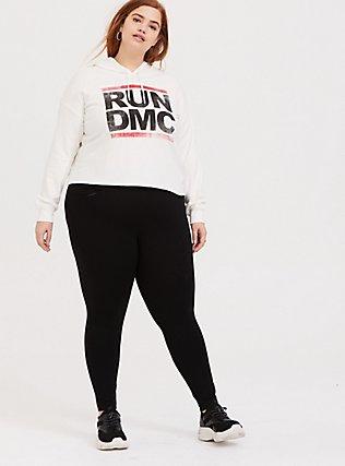 Run-DMC White Crop Hoodie, CLOUD DANCER, alternate