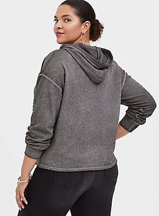 Plus Size Journey Grey Burnout Crop Hoodie, MEDIUM HEATHER GREY, alternate