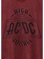 AC/DC Burgundy Purple Mineral Wash Crew Tee, BURGUNDY, alternate