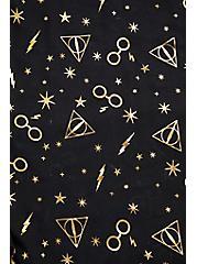 Harry Potter Symbol Gold Foil & Black Scarf, , alternate