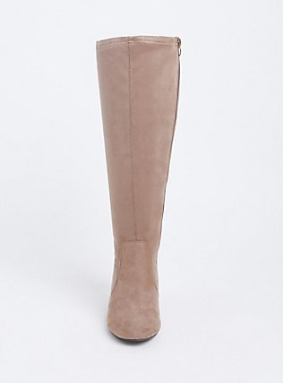 Tan Faux Suede Barrel Knee-High Boot (WW), TAN/BEIGE, alternate