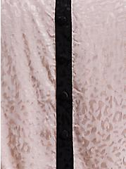 Plus Size Tan Jacquard Leopard Button Babydoll Cami, MUSHROOM, alternate