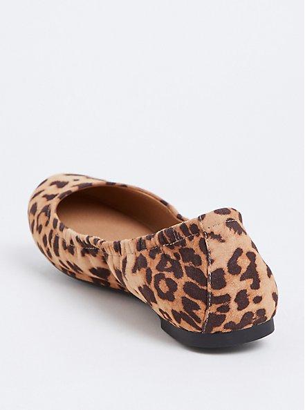 Leopard Scrunch Ballet Flat (Wide Width), ANIMAL, alternate