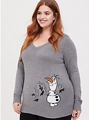 Disney Frozen 2 Olaf Grey V-Neck Sweater, , hi-res