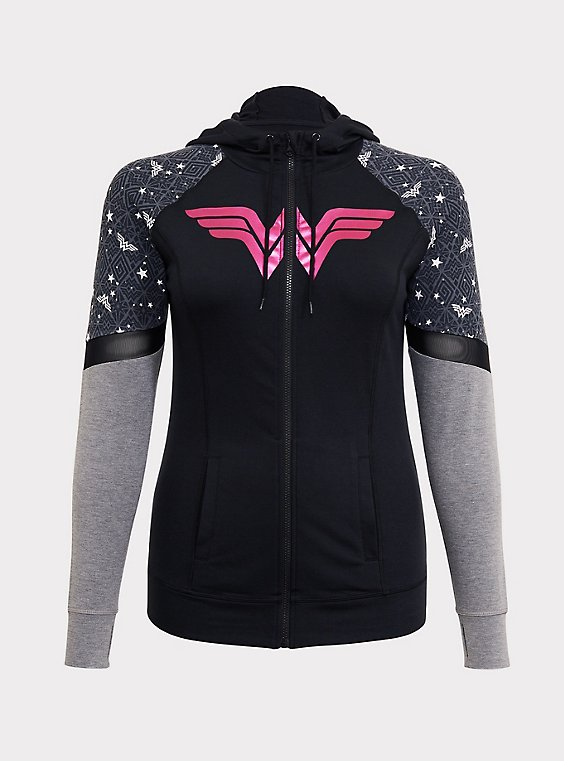 Breast Cancer Awareness - DC Wonder Woman Active Hoodie, , hi-res