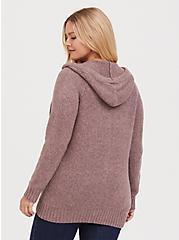 Mauve Purple Zip Hoodie, MAUVE, alternate
