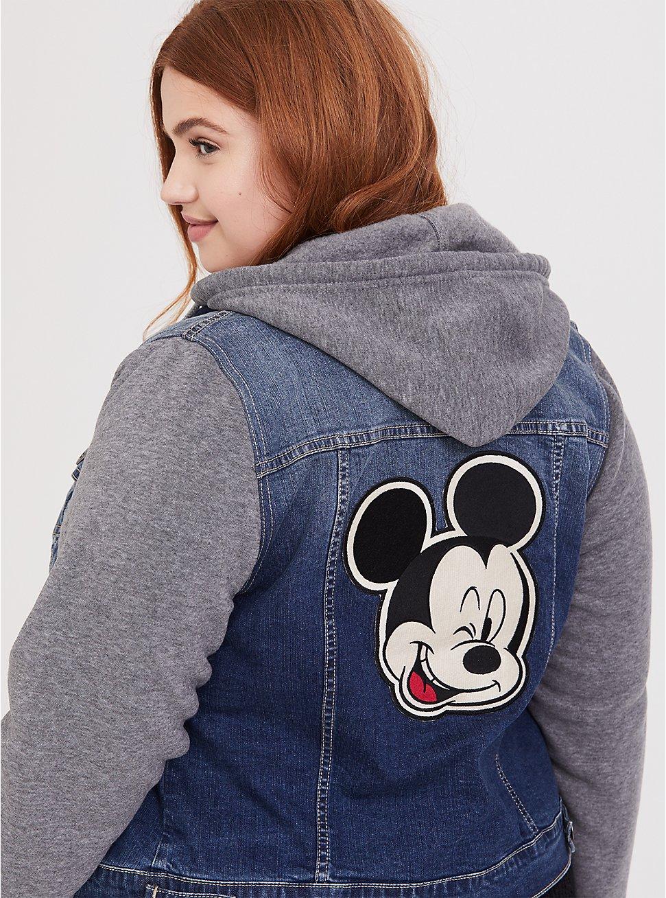 Disney Mickey Mouse Hooded Denim Trucker Jacket 5