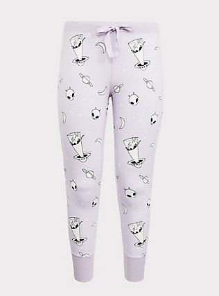 Light Lavender Purple Alien Sleep Pant, MULTI, flat